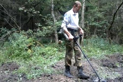 Поиски чешуек с металлоискателем