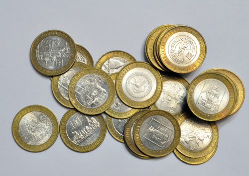 Цена на биметаллические 10 рублевые монеты украины цена полный список в гривнах