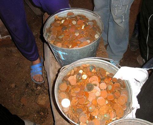 Клады монет