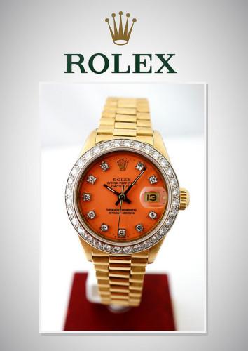 Часы Ultra Rare Rolex Oyster Perpetua. Золотой корпус с бриллиантами (1984-1999гг) Цена $15700