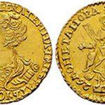 Золотые монеты  императрицы Екатерины Первой