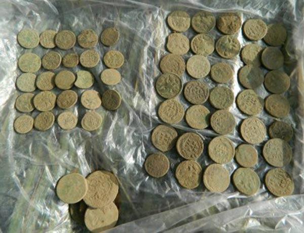 Медные монеты из клада (фото)
