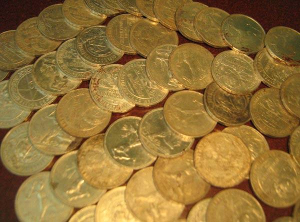 фото клада серебряных рублей