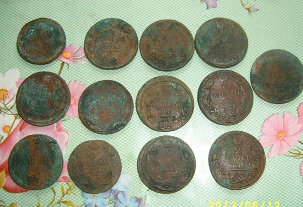 Клад меди, фото, медные монеты