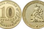 Юбилейные монеты 10 рублей 2013 года