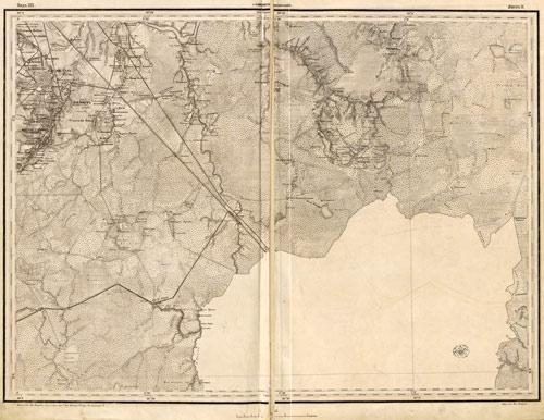 Военно-топографическая карта Европейской России масштаба 3 версты в дюйме (XIX в.)