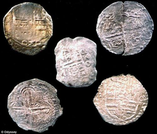 Монеты с места кораблекрушения