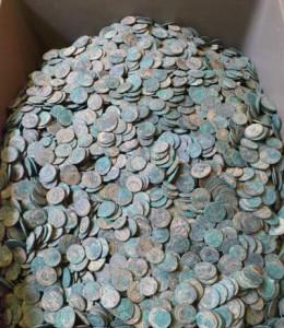 Клад из 20 тыс. римских монет